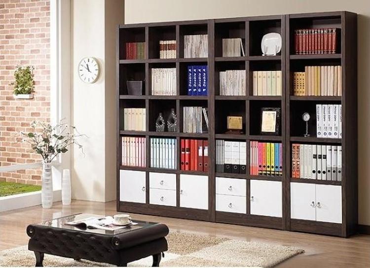 典致居-组合书柜隔断柜书橱书架置物架古董架(黑胡桃