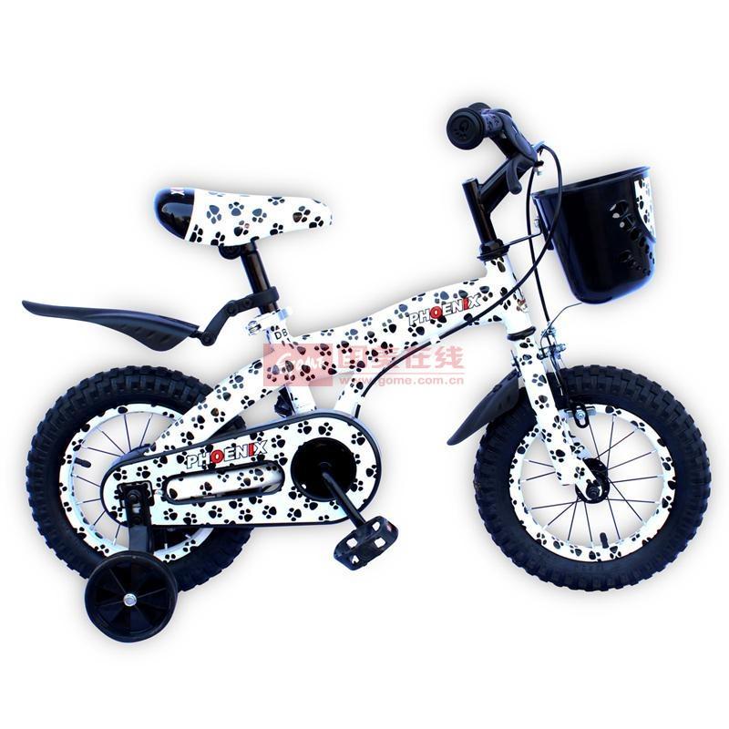 【凤凰自行车黑白14寸图片】凤凰 斑点狗 儿童自行车