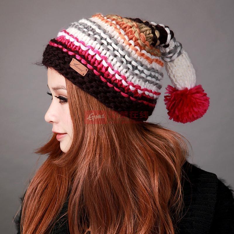 deniso帽子女士手工编织魔术帽圣诞帽针织帽ds-1071