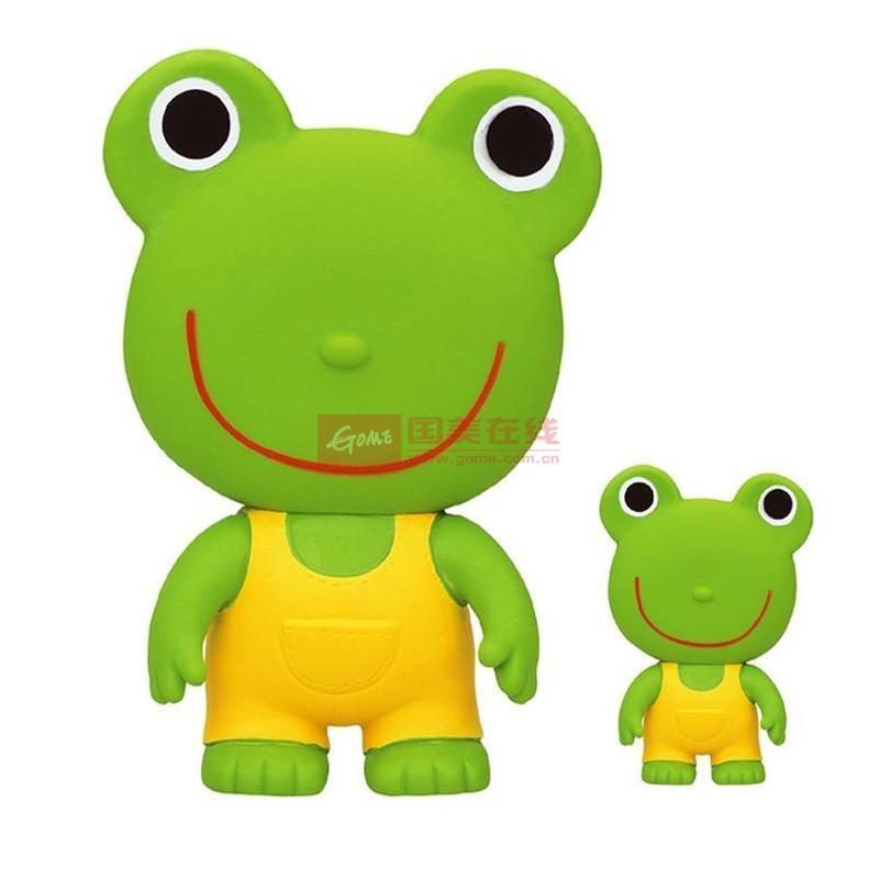专柜正品 日本皇室 软胶小青蛙捏响玩具发声玩具手抓