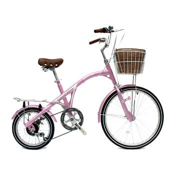 可爱宝贝 v15变速 休闲 自行车(粉色 蓝色 米色可选)(粉色)