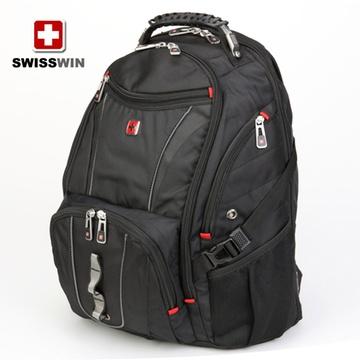 swisswin瑞士军刀男士双肩包男背包韩版潮15寸时尚包