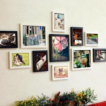 11框精美照片墙欧式创意组合相框墙(黑白复古)