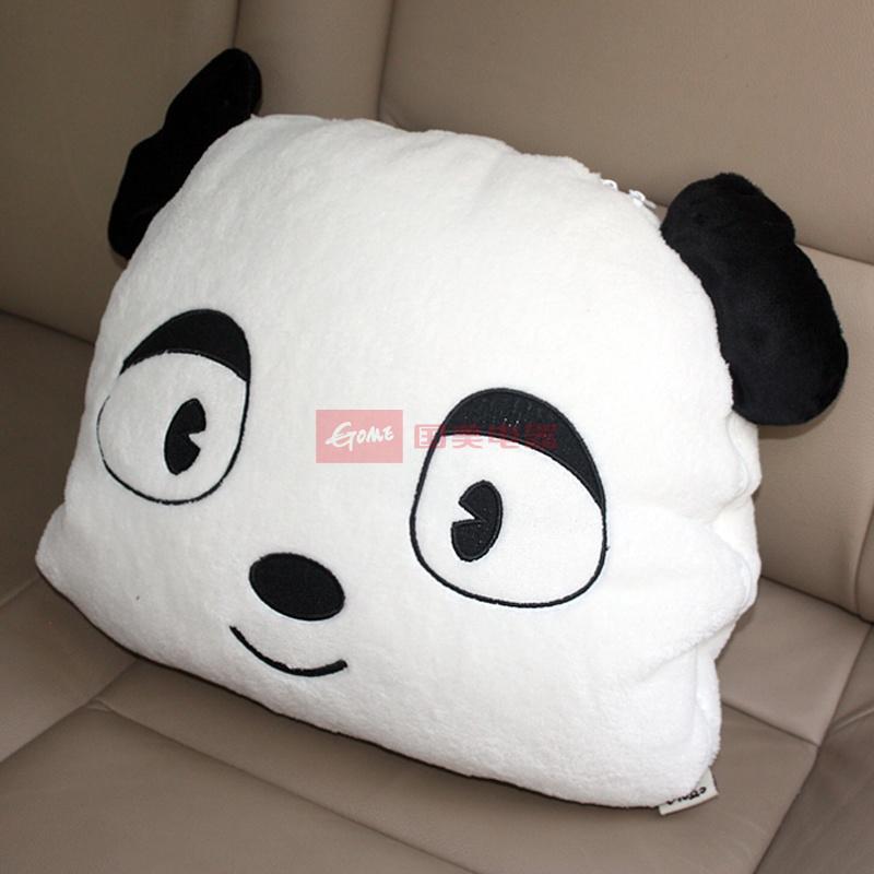 国美为您找到 酷拉熊q迪斯黑白卡通 可爱车用家用抱枕被空调