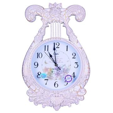 康巴丝石英钟椭圆形欧式古典客厅挂钟