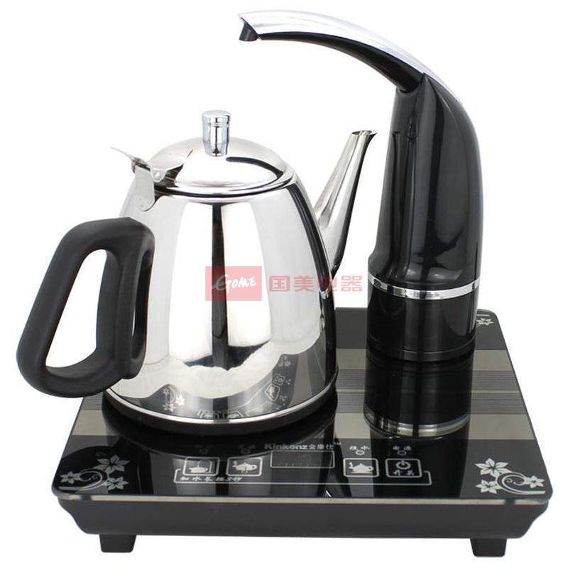 金康仕c112电热水壶 自动上水电子茶炉(黑色)