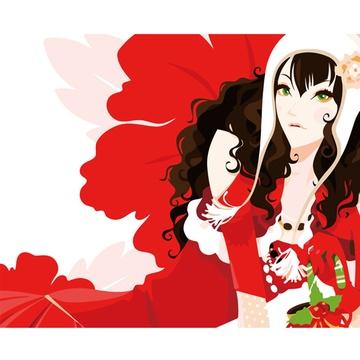 华庭丽娜diy手绘数字油画 圣诞红 40x50cm无框画装饰画 简单容易画