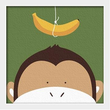 华庭丽娜diy数字油画 20x20 动物连连看-猴子 学习绘画简单容易画