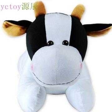 玩偶靠垫 抱枕  新年礼物; 毛绒玩具可爱 奶牛  公仔 小号牛布娃娃