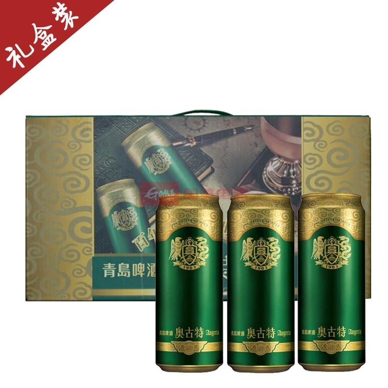 【青岛啤酒】青岛啤酒奥古特12度500ml*10罐(礼盒装)