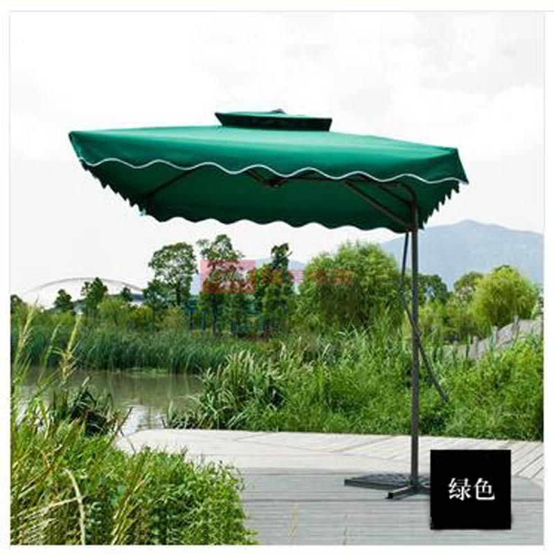 盎睐玛特方形双顶户外欧式遮阳伞庭院伞香蕉伞2.