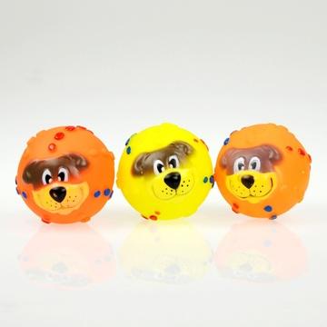 可爱脸谱发声玩具球狗狗发声玩具宠物发声玩具