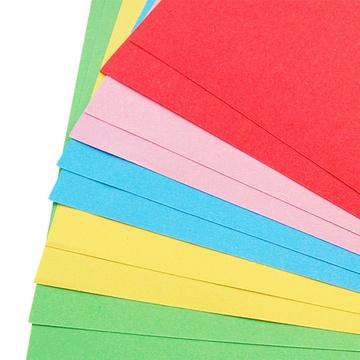 五色双面彩纸 折纸剪纸压花器纸 儿童手工diy材料 5色