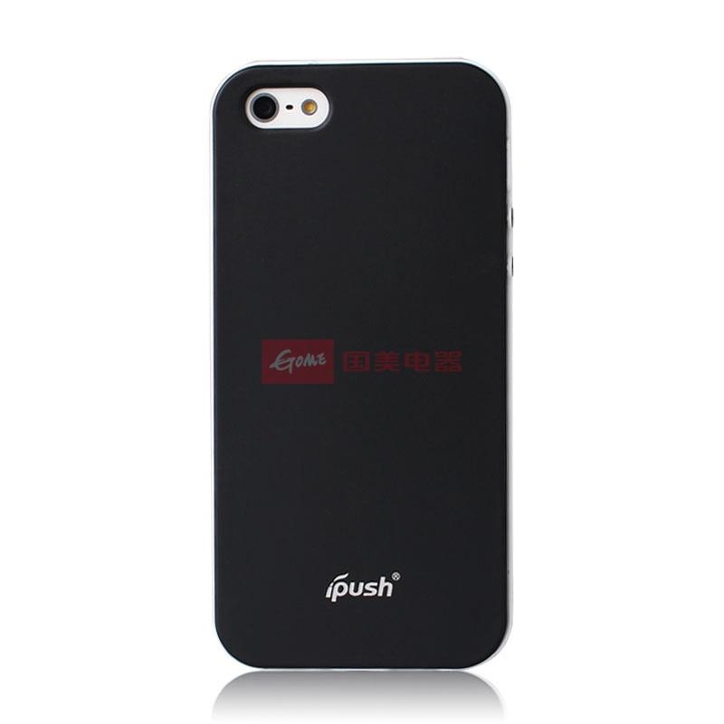 爱出色(ipush)苹果iphone5撞色边框彩壳手机壳手机套保护壳(实黑色)