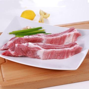 苏维�_苏食冷鲜黑毛猪肉 淮黑猪 冷冻猪排骨 肋排600g
