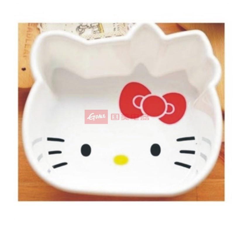 日照鑫 卡通hello kitty kt超可爱猫脸形状水果盆 果篮 小脸盆 1个