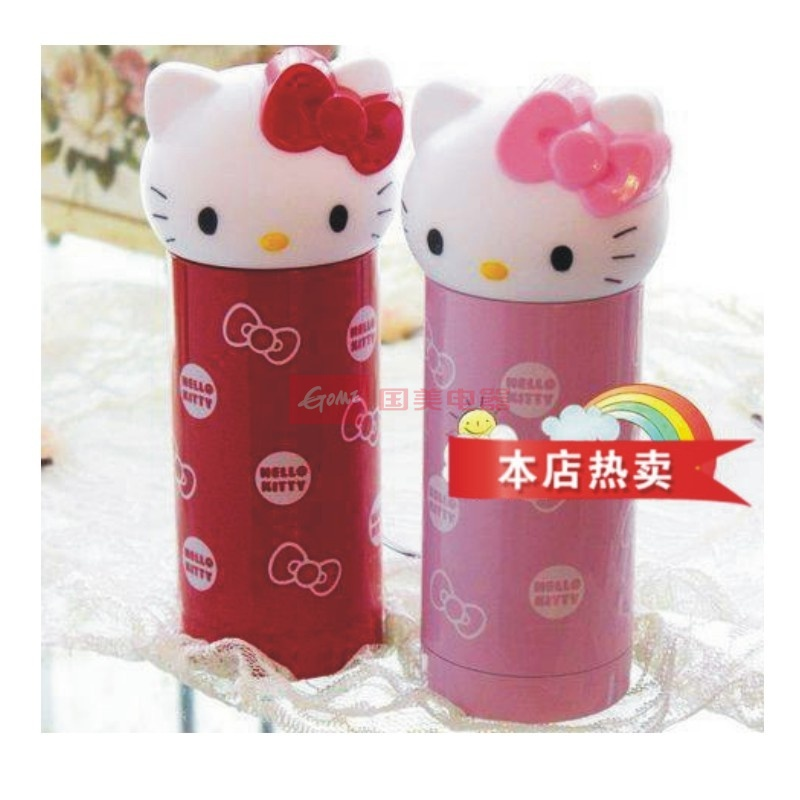 kitty保温杯不锈钢可爱保温瓶卡通水杯儿童保温水壶 1个金辉学生文具