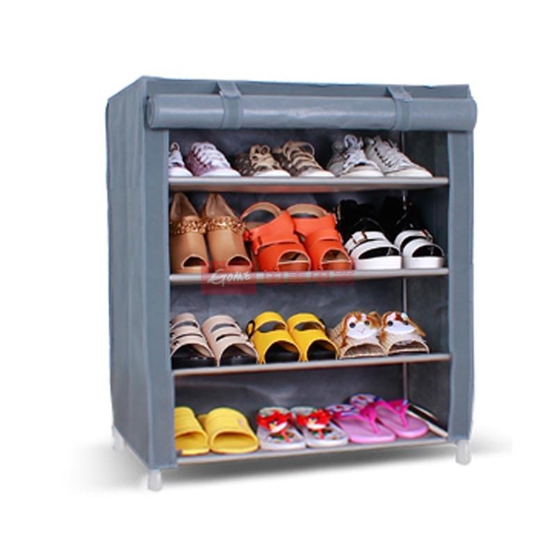 豪享佳 布鞋架 无纺布多功能组合布鞋柜 hh-o1b-xg-d4