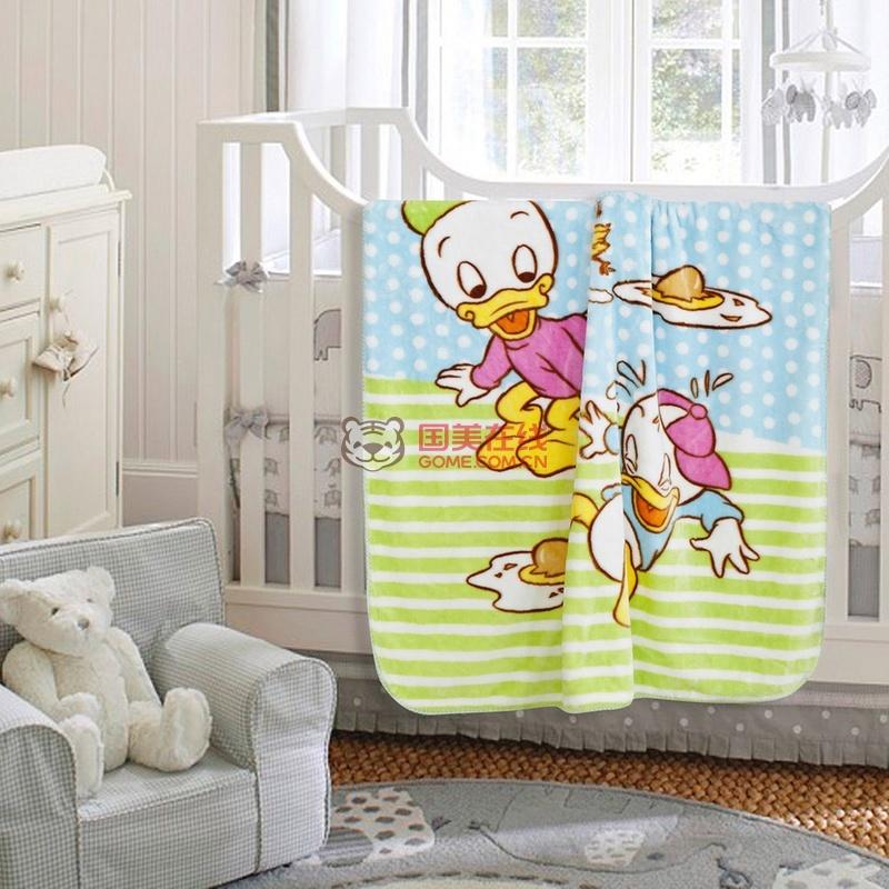 迪士尼/disney 快乐伙伴顽皮小鸭双层云毯 dd80703h 云毯毛巾被
