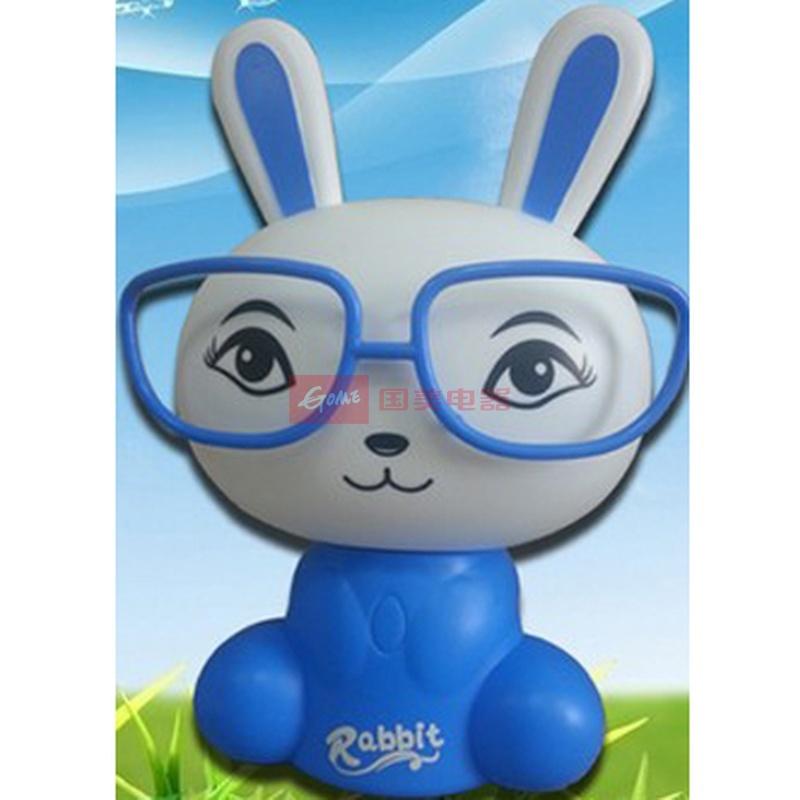 卡通眼镜兔台灯 带眼镜兔子小夜灯宝宝灯床头灯