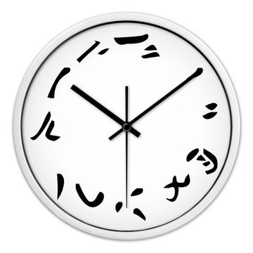 时光机 十大创意静音时钟 设计大师陈幼坚作品中国汉字艺术挂钟挂表h