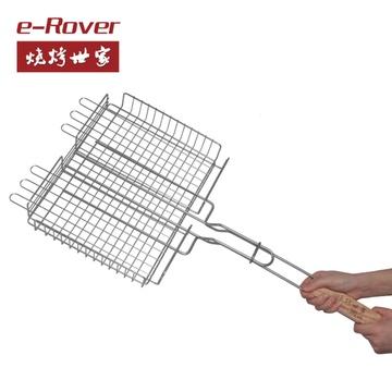 烧烤世家 魔法烤网烤鱼夹子网 不锈钢 多功能烤具 烧烤夹具工具 烤网