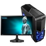 华志硕四核E3 1231V3/华硕B85/GTX750 2G/24英寸高端发烧台式组装电脑全套(黑色)