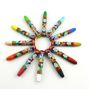 托马斯儿童画笔油画棒/蜡笔/水彩笔卡通幼儿彩色绘画工具(12色--油画