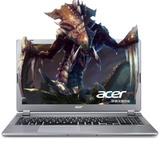 宏�(acer)V5 573G 15.6英寸笔记本电脑 四代i5/i7处理器 GT750 4G独显 1080分辨率(银色 i7高清 500GB 官方标配)