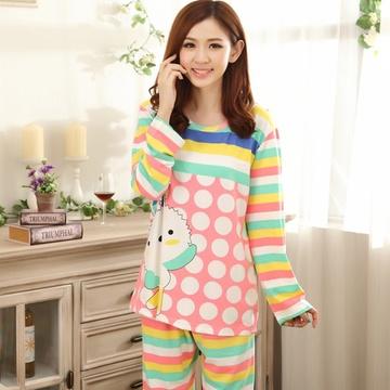 茵珠丽yinzhuli秋冬季新款可爱个性时尚公仔卡通舒适圆领女士休闲家居
