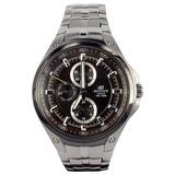正品卡西欧手表 casio男表 EF金属系列商务休闲钢带三眼石英男表 EF-326D-5A男士品牌手表