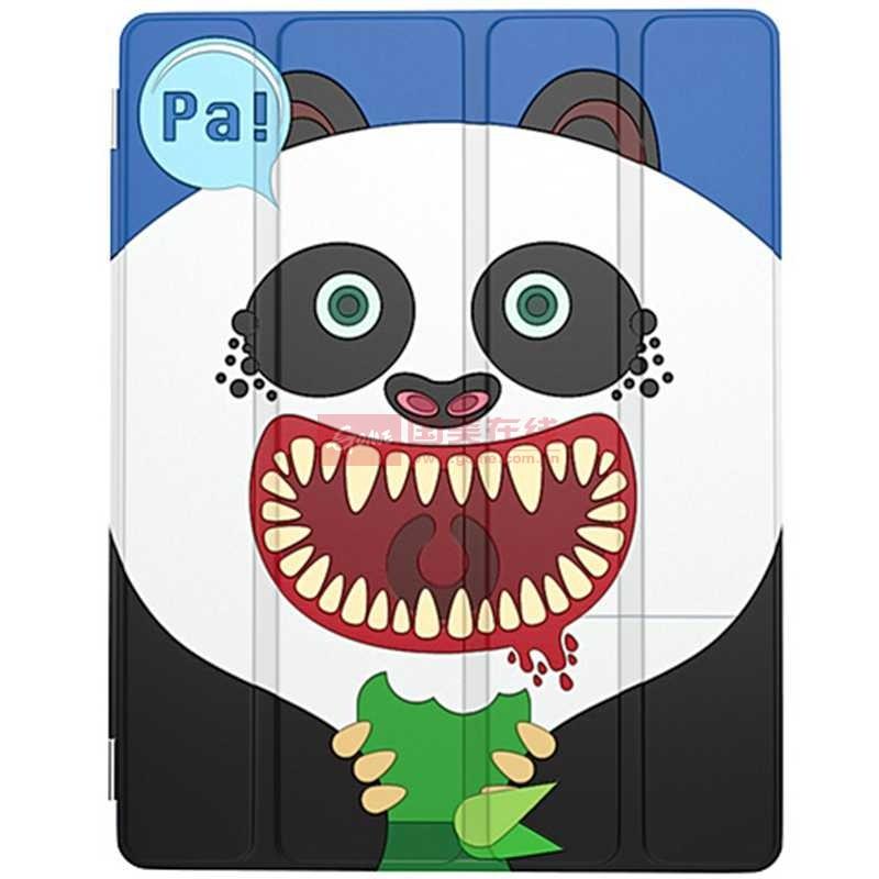 黑鱼&airzooo ipad4/3/2 云小兽系列保护套(大头熊猫)