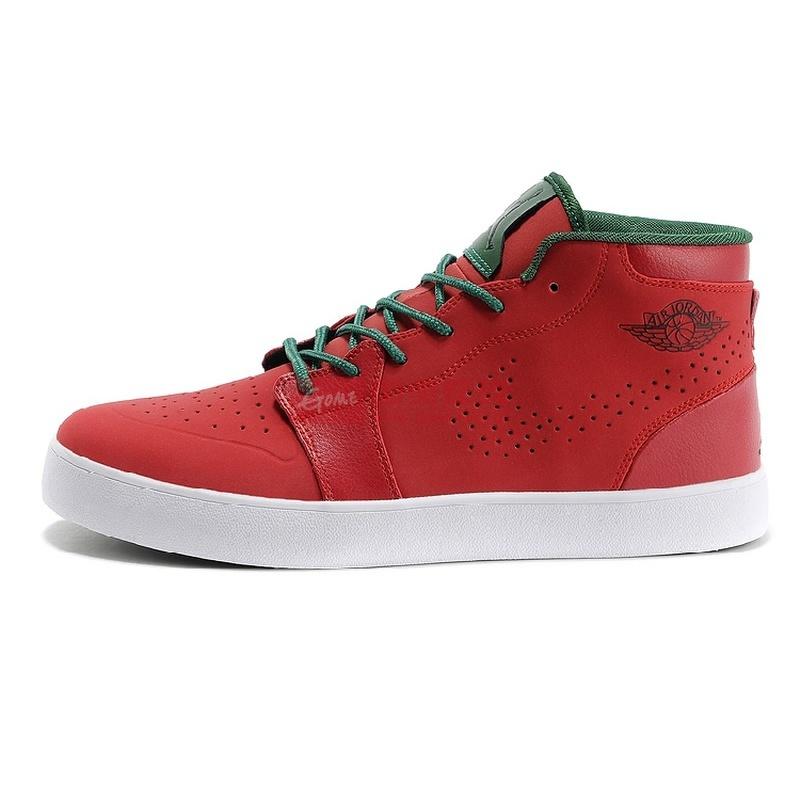 新款 沃特/耐克NikeJordan2014新款冬季保暖皮面男子休闲鞋乔丹高帮板鞋(...