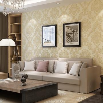 3d立体雕刻墙纸卧室客厅背景墙gmo-g(013米黄色)