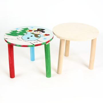 diy手工白模填色彩绘凳子创意绘画