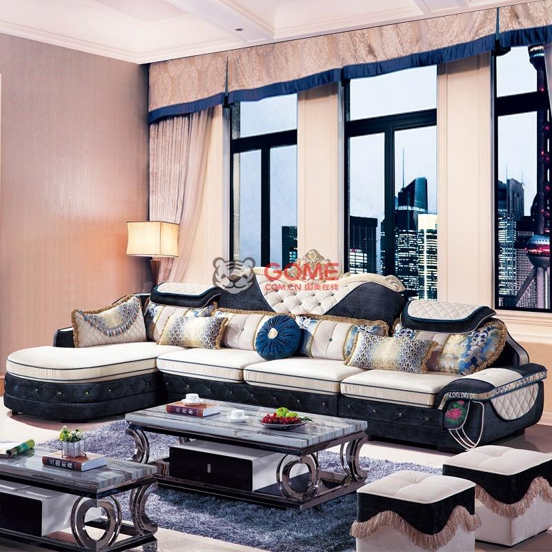 俏夫人 欧式新古典沙发客厅转角布艺沙发 欧式家具