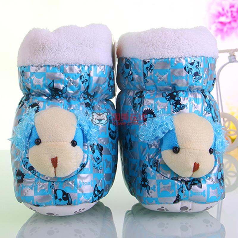 婴儿棉鞋宝宝软底棉鞋秋冬季保暖鞋高帮加厚高筒大棉
