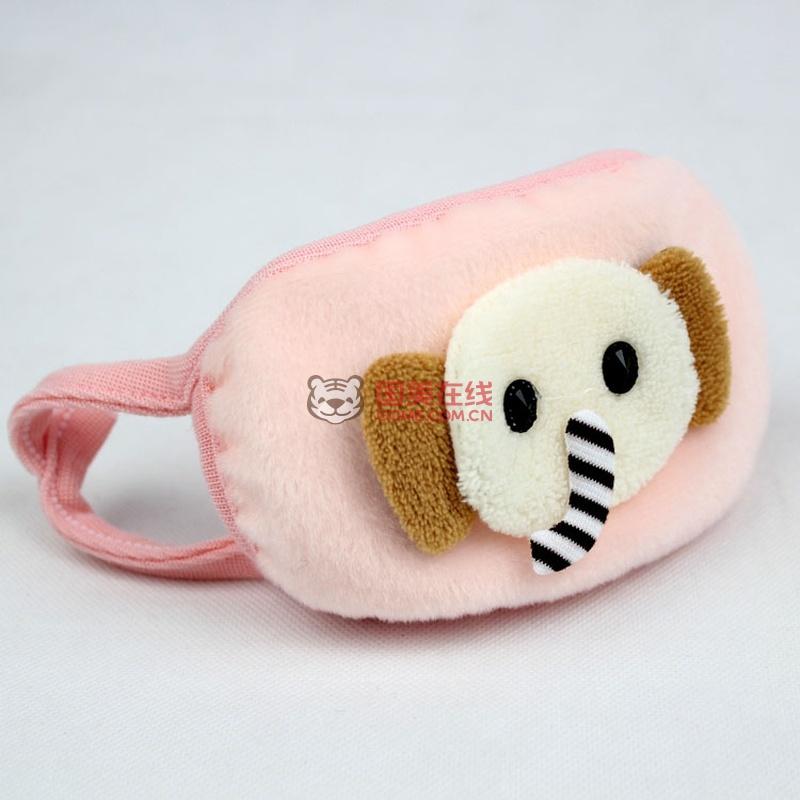 kz003 大象卡通口罩儿童口罩 秋冬保暖宝宝口罩(淡)