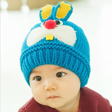 冬季3d兔子造型儿童毛线帽宝宝帽子小孩子护耳帽子帽