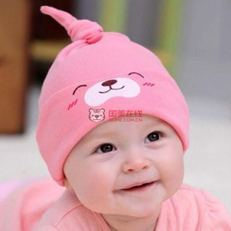 纯棉宝宝帽婴儿帽子 秋冬 遮光睡眠帽 新生儿男女儿童