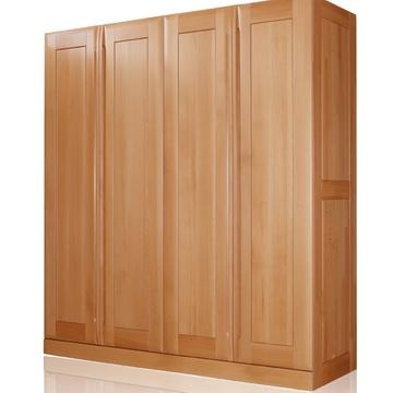 光明实木家具 进口榉木 卧室大衣柜 实木衣柜 大衣柜