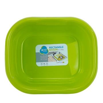 茶花方盆洗脸盆塑料洗衣盆大号儿童脸盆加厚长形盆子