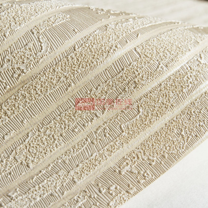 米素壁纸 素色条纹无纺布