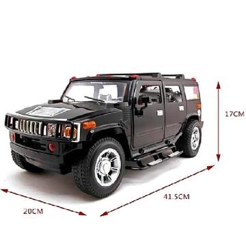 超大吉普车1:8悍马h2遥控开车门外接mp3玩具车suv越野车汽车模型生日