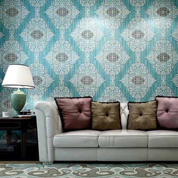 米素壁纸 卧室客厅电视背景墙纸壁纸 欧式复古立体奢华壁纸 君典(sy