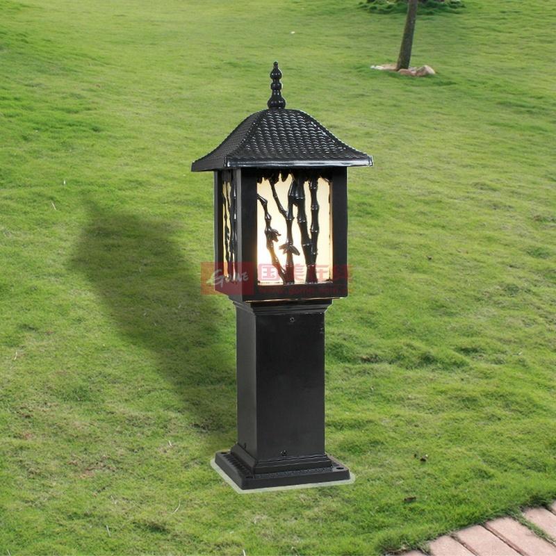 爱惟欧式户外景观庭院灯具led别墅草坪灯道路灯室外花园灯饰7126(黑色