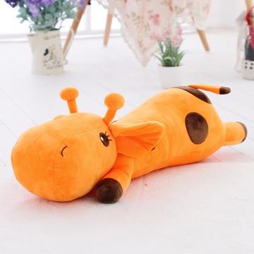 安吉宝贝可爱小鹿毛绒玩具公仔布娃娃 一路顺风公仔(橘色趴鹿公仔
