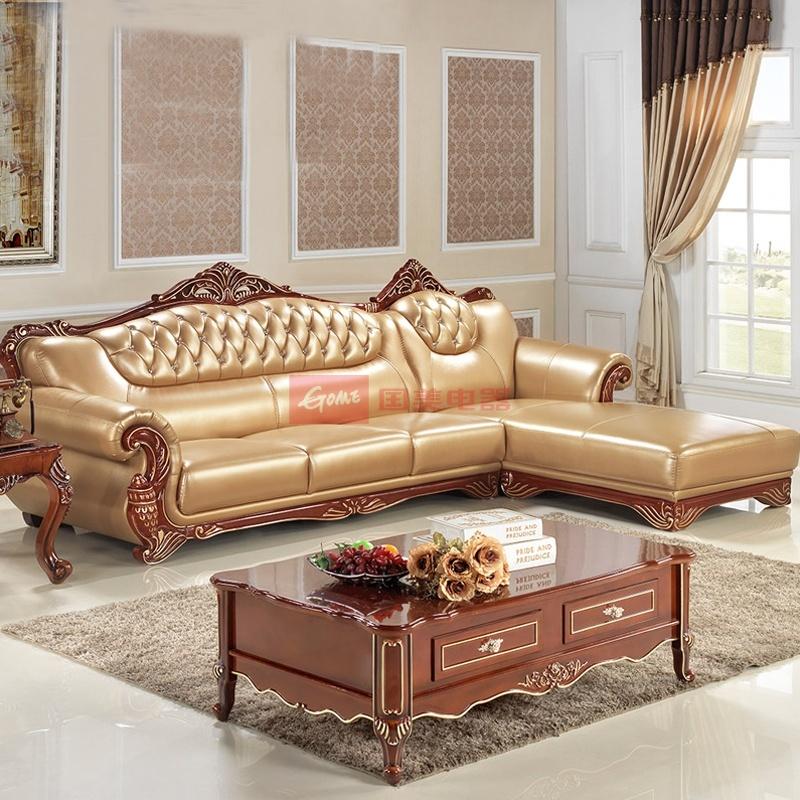 梦玛尼法式欧式沙发组合 高档奢华简欧真皮沙发转角 实木沙发别墅大