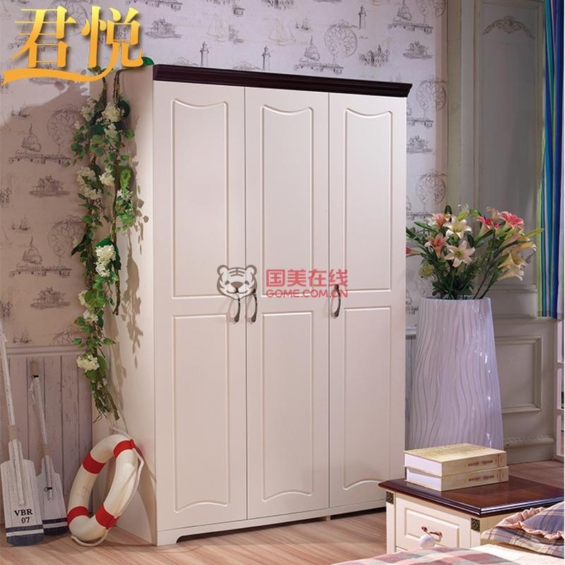 君悦 地中海衣柜 四门衣柜 实木 正品美式乡村家具特价 651#(图片色 2