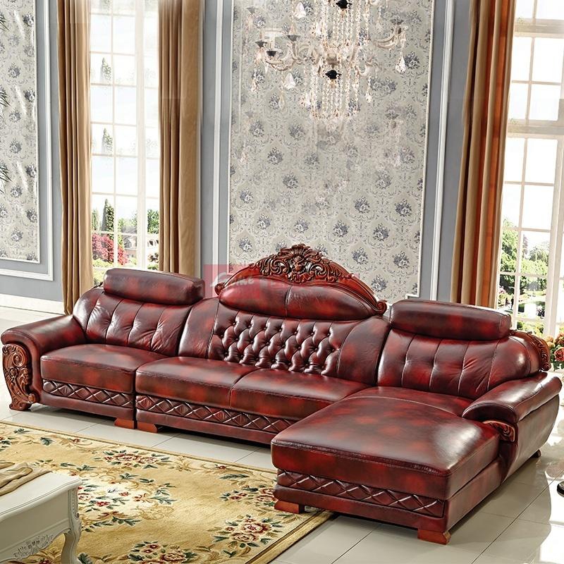 梦玛尼法式欧式沙发组合 高档奢华简欧真皮沙发 实木雕刻沙发别墅大